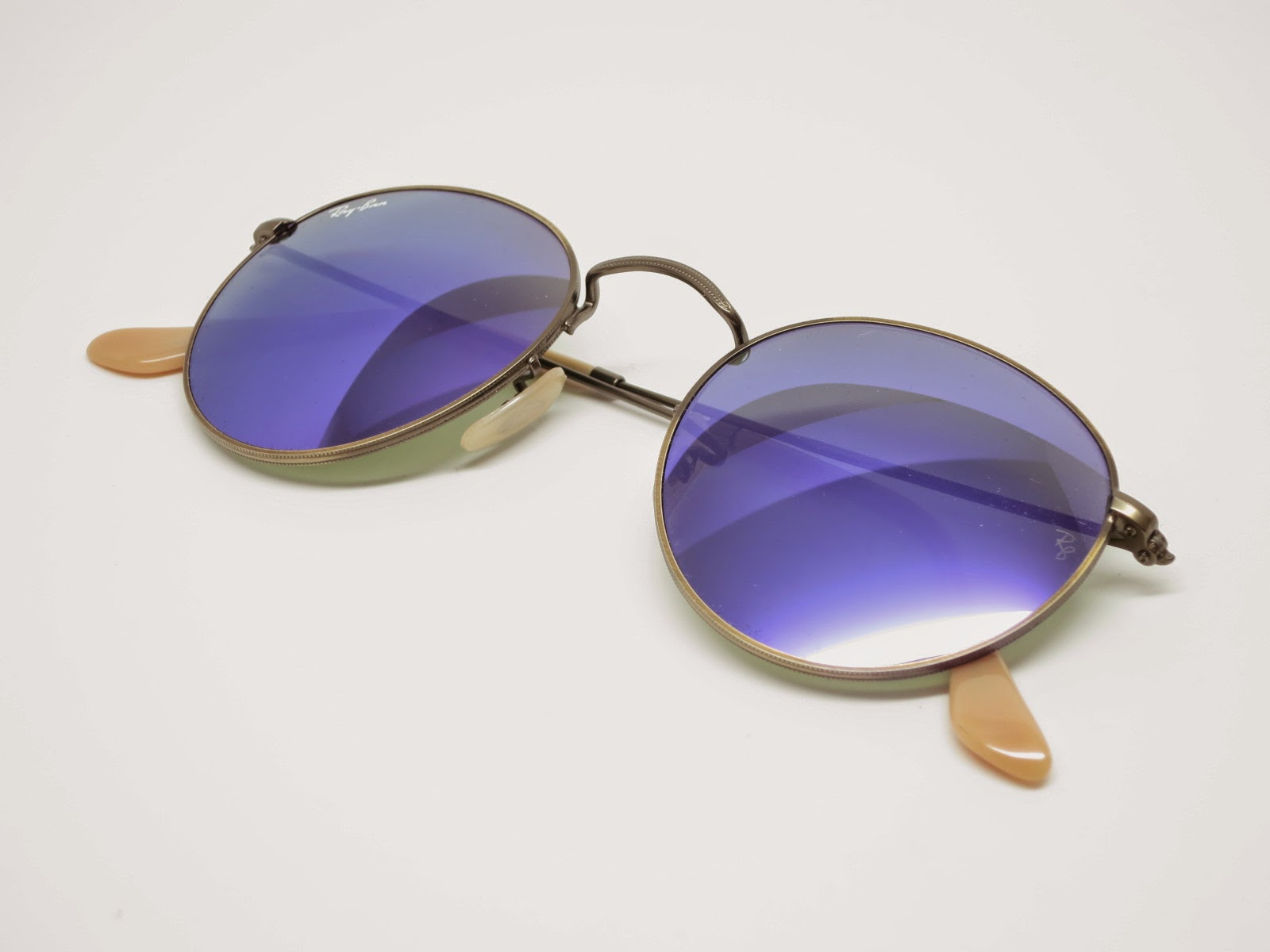 ray ban sunglasses made in china  Ray-Ban RB 3447 Round Metal 167/1M Violet Mirrored Sunglasses