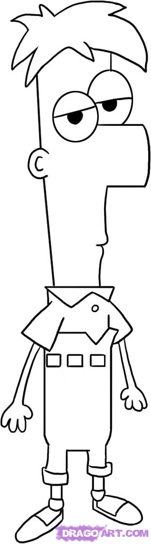 How To Draw Phineas And Ferb