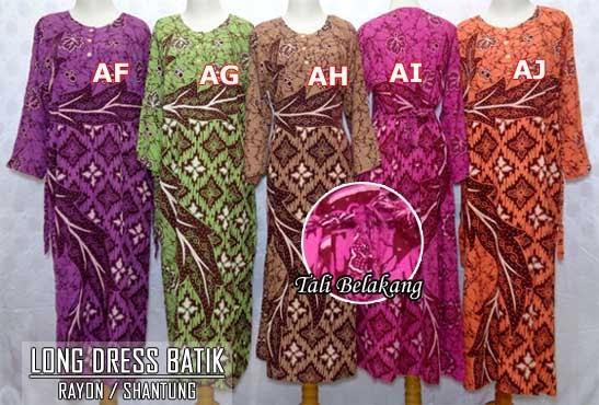 pusat-grosir-long-dress-batik-pekalongan-murah