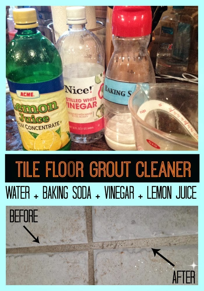 Okay So Once You Have Your Tile Floor Grout Cleaner Concoction Mixed