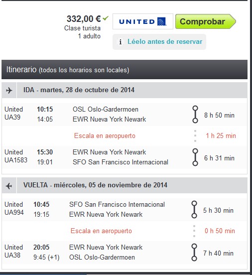 United Airlines error fare