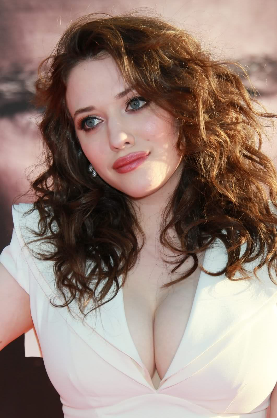 Words... Hot kat dennings cleavage would