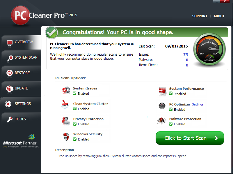 PC Cleaner PRO 2015 v15.0.15.1.22 Final incl Serials Screenshot