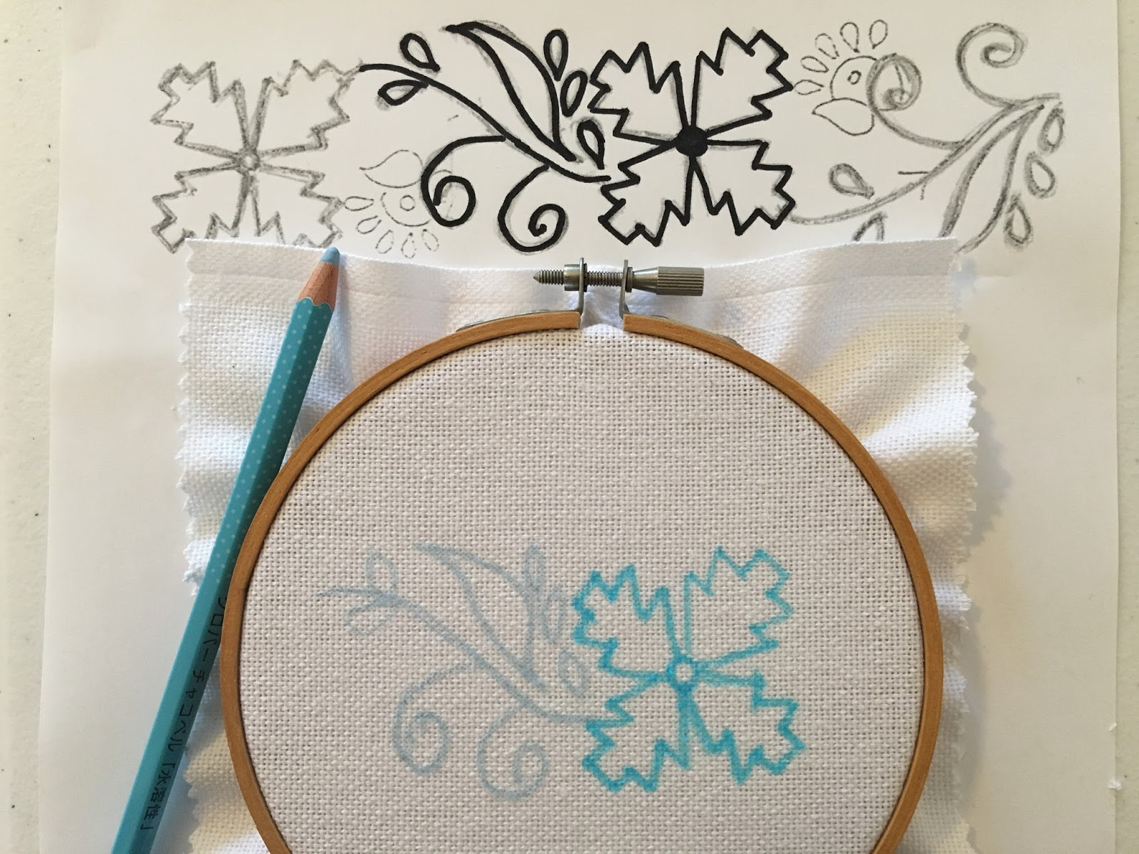 Kamal Kadai Work Flower, a tutorial by Michelle for Mooshiestitch Monday on Feeling Stitchy