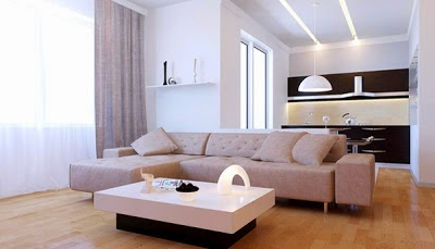 Minimalist House Design Living Room with White impression-2