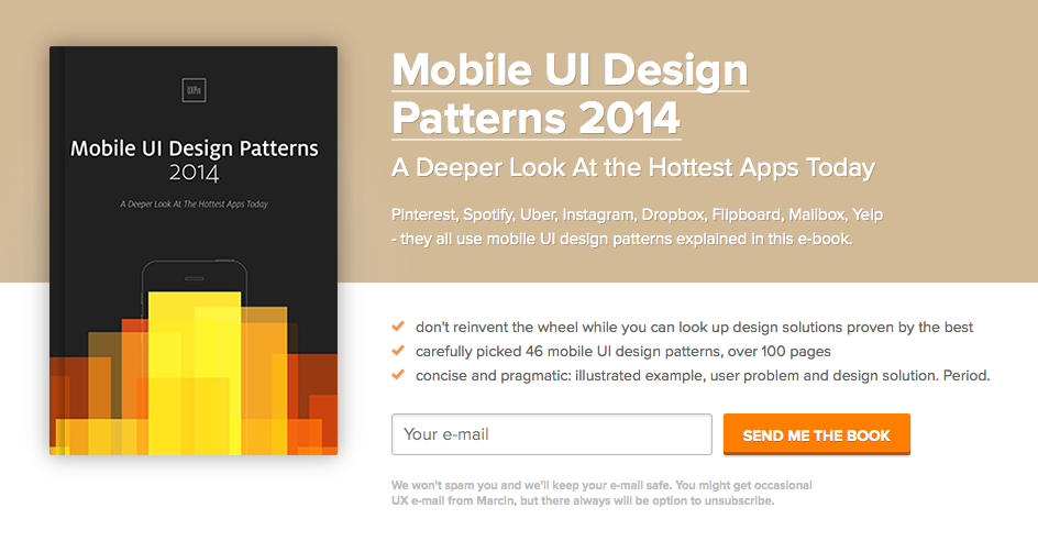 Mobile UI Design Patterns 2014 - A Deeper Look At the Hottest Apps Today