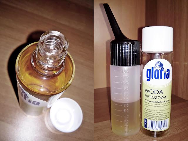 malwa gloria woda brzozowa do włosów aplikacja