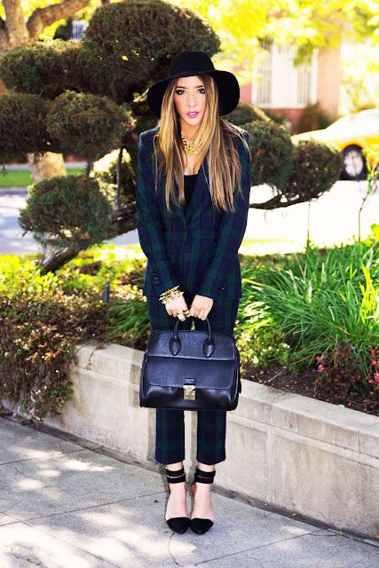 Amarelo Bordo+terno+Fashion+Bag+bolsa+tendencia+xadrez+chapeu