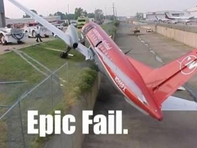 pesawat tersangkut