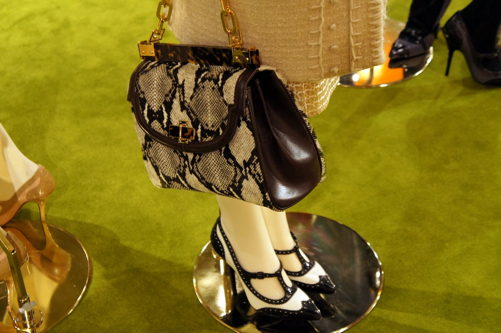 tory burch fall 2012 snake print purse