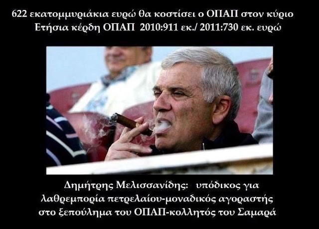 Ο Μελισσανίδης διεκδικεί τον ΟΠΑΠ