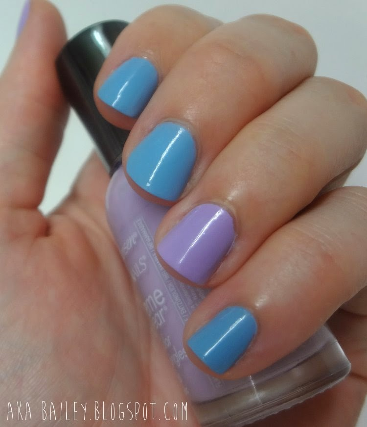 Dreamer by Revlon and Lacy Lilac by Sally Hansen, nail polish