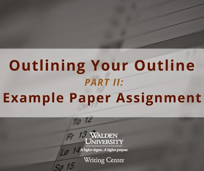 Outlining Your Outline writing strategy | Walden University Writing Center Blog