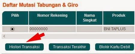 Cara Cek Saldo Rekening BNI Via Internet Banking