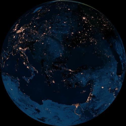nasa night view of earth - photo #21