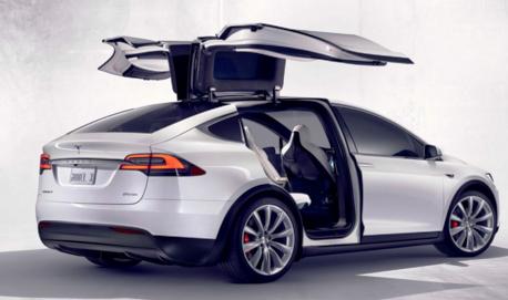 Tesla Model X Gullwing Doors