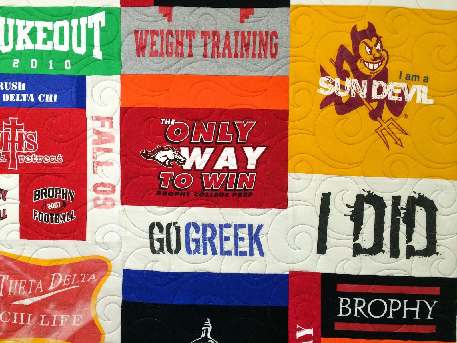 Betty Martin's College T-shirt Quilt