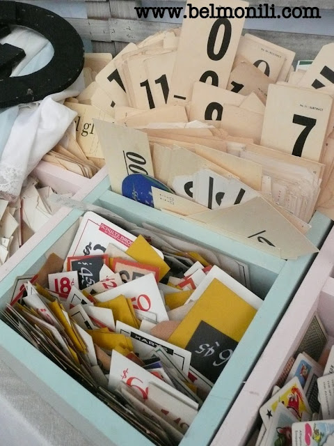 bel monili, red door antiques, country living fair, country living magazine, vintage numbers, antique cards