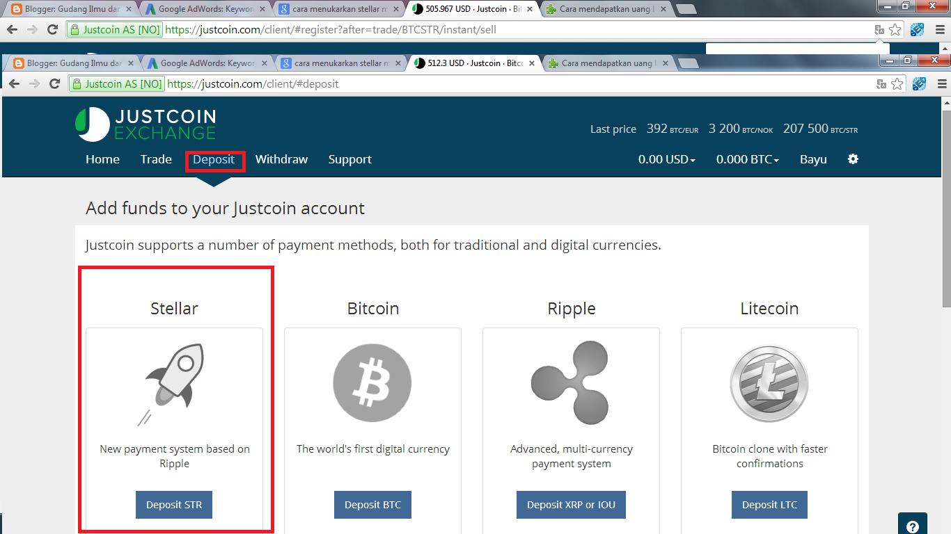 Cara menukarkan stellar menjadi bitcoin