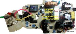 placa de componentes del cargador Bosch para baterias BC430