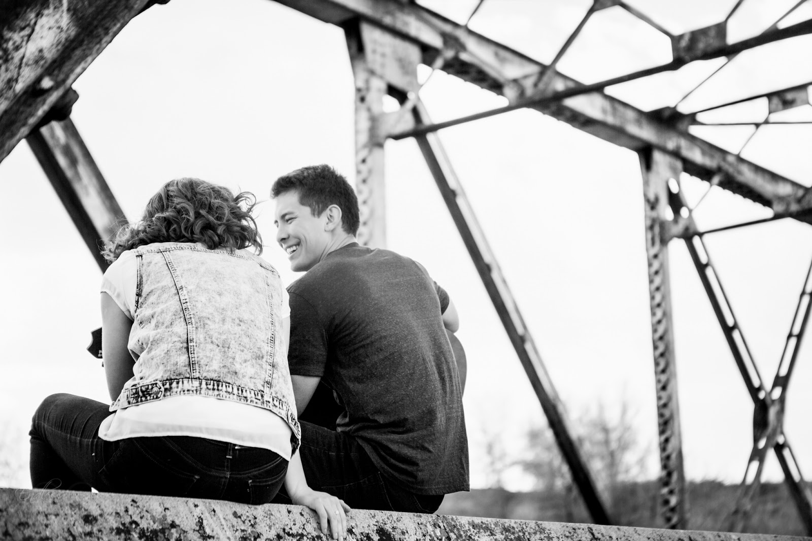 Logan Photographers Logan Wedding Photographer Engagements Couples Adorable Cute Guitar Bridge Field