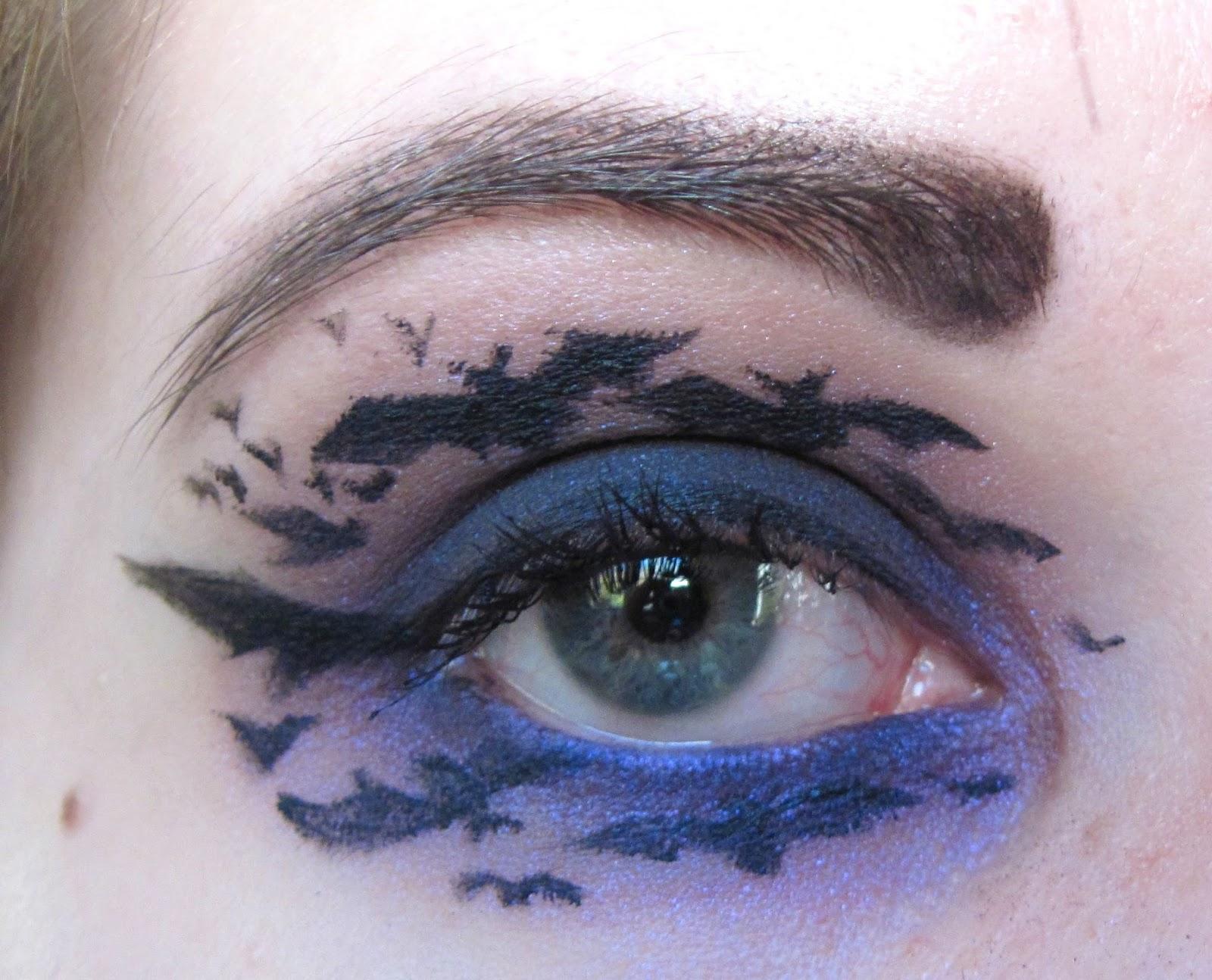 Bat eye makeup