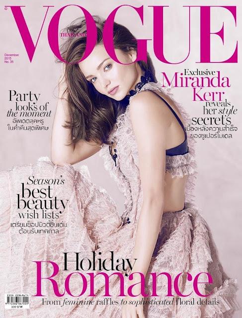 Fashion Model, @ Miranda Kerr - Vogue magazine,Thailand, December 2015