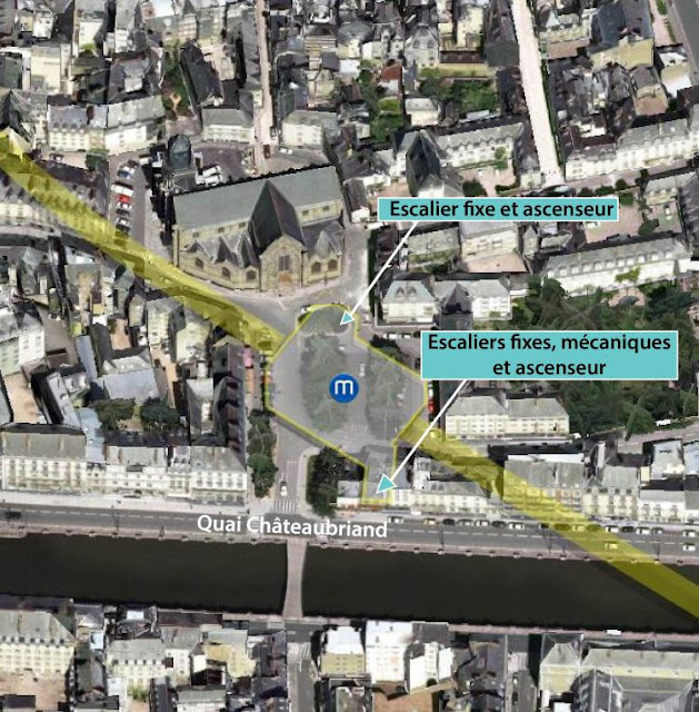 L'emprise du chantier de la Place Saint-Germain - Infographie SEMTCAR