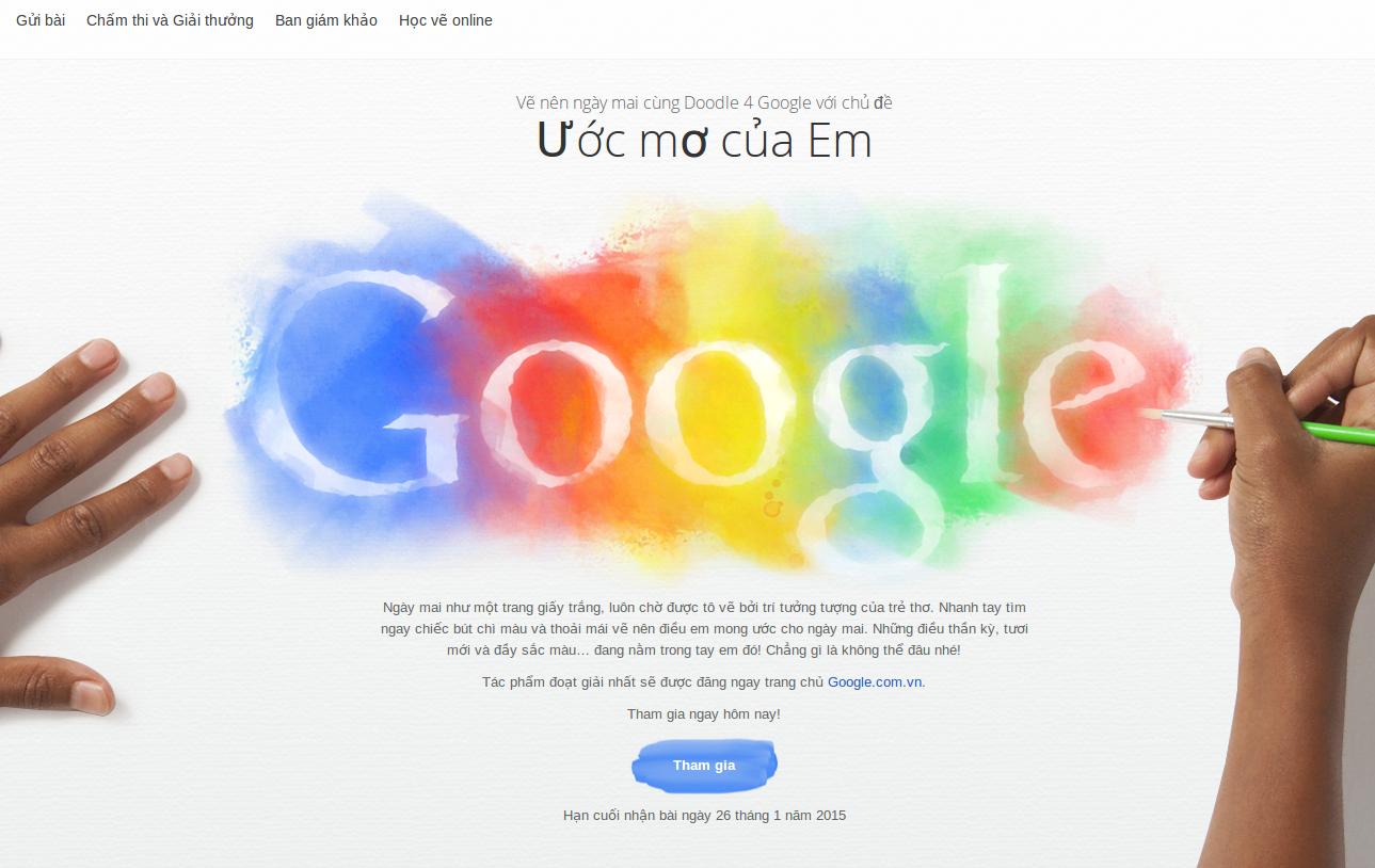 """Google Việt Nam Phát Động Cuộc Thi Vẽ Logo Với Chủ Đề """"Ước Mơ Của Em"""""""