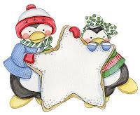 Imagens para decoupage de pinguins de natal