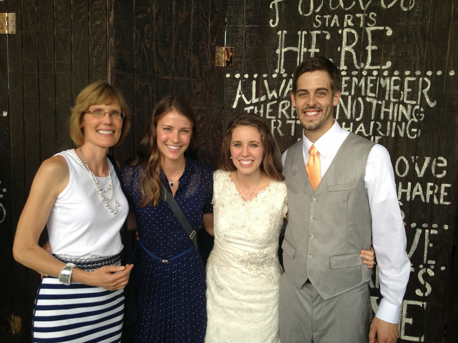 Lily and Ellie with Jill and Derick Dillard