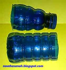 potong botol plastik dengan gunting setinggi 3/4 ukuran pulpen
