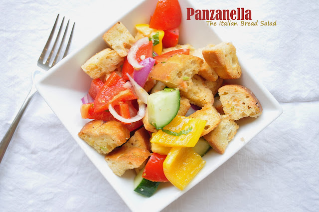 italian panzanella with mint and marjoram