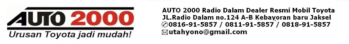 Auto 2000 Radio Dalam Jakarta Selatan Dealer Resmi Mobil Toyota