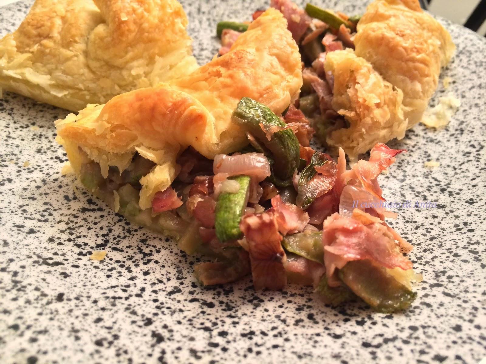 torta sfoglia con zucchine e noci