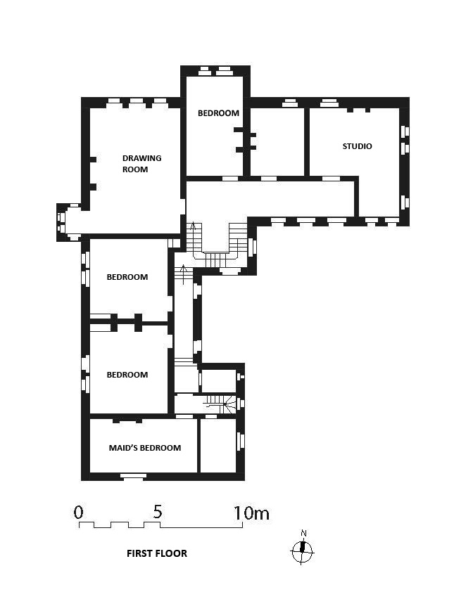 Medieval house layout