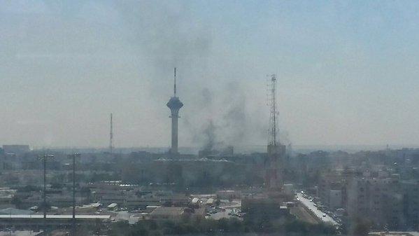 #حريق_التلفزيون : حريق في مبنى التلفزيون السعودي بصورة مفاجئة وتوقف أكثر من قناة تغطية لحظة بلحظة .. بالصور