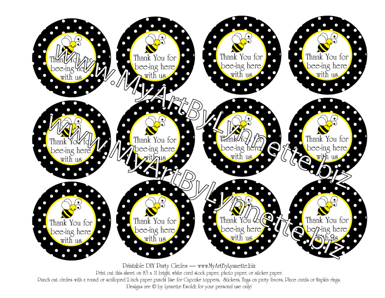 LynnetteArt: Bumble Bee Baby Shower Invitation