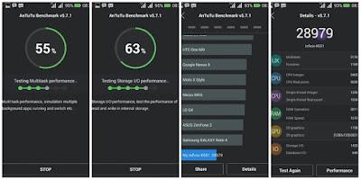 Hasil AnTuTu Benchmark pada Infinix Hot Note X551