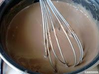 capa chocolate con leche templada