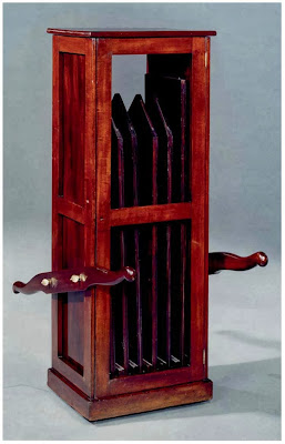 Leaf storage cabinet.