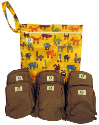 Charcoal Bamboo Diaper Inserts and Wet Bag  #pandaroo