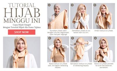Foto Tutorial Hijab Modern untuk Remaja
