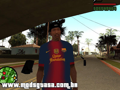 Camisa do Barcelona 2012/2013 para GTA San Andreas