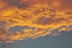 Abendwolken...