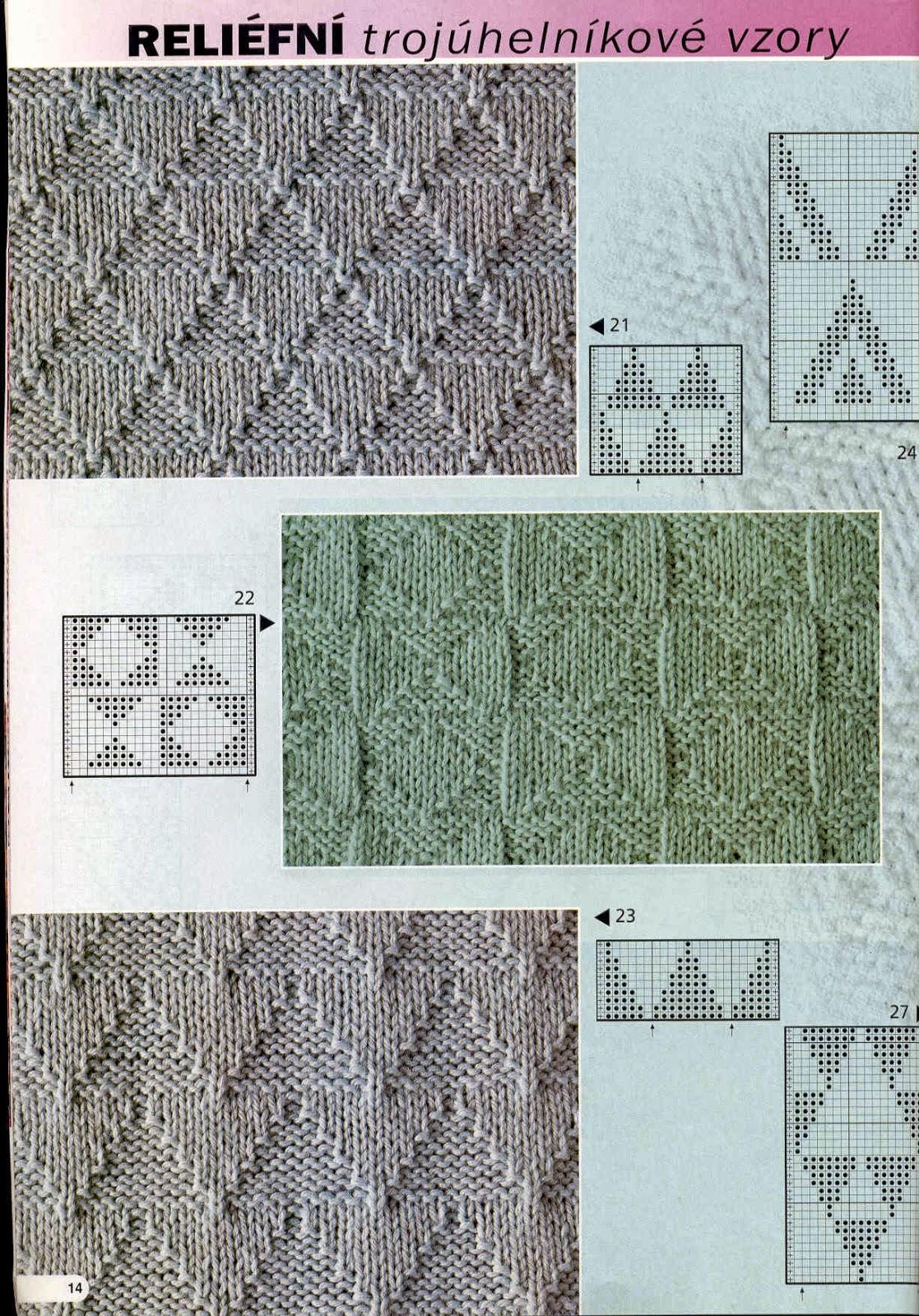 Вязание рельефных узоров спицами для мужчин