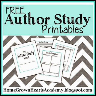 FREE Author Study Printables