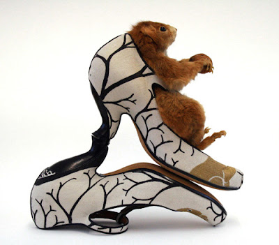 Shoes by shoe designer Tracey Neuls at Head to Toe Exhibition Feb'13