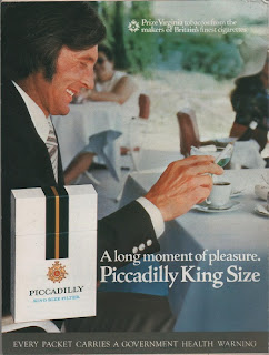Vintage advertisement for Picadilly King Size cigarettes, c.1970's