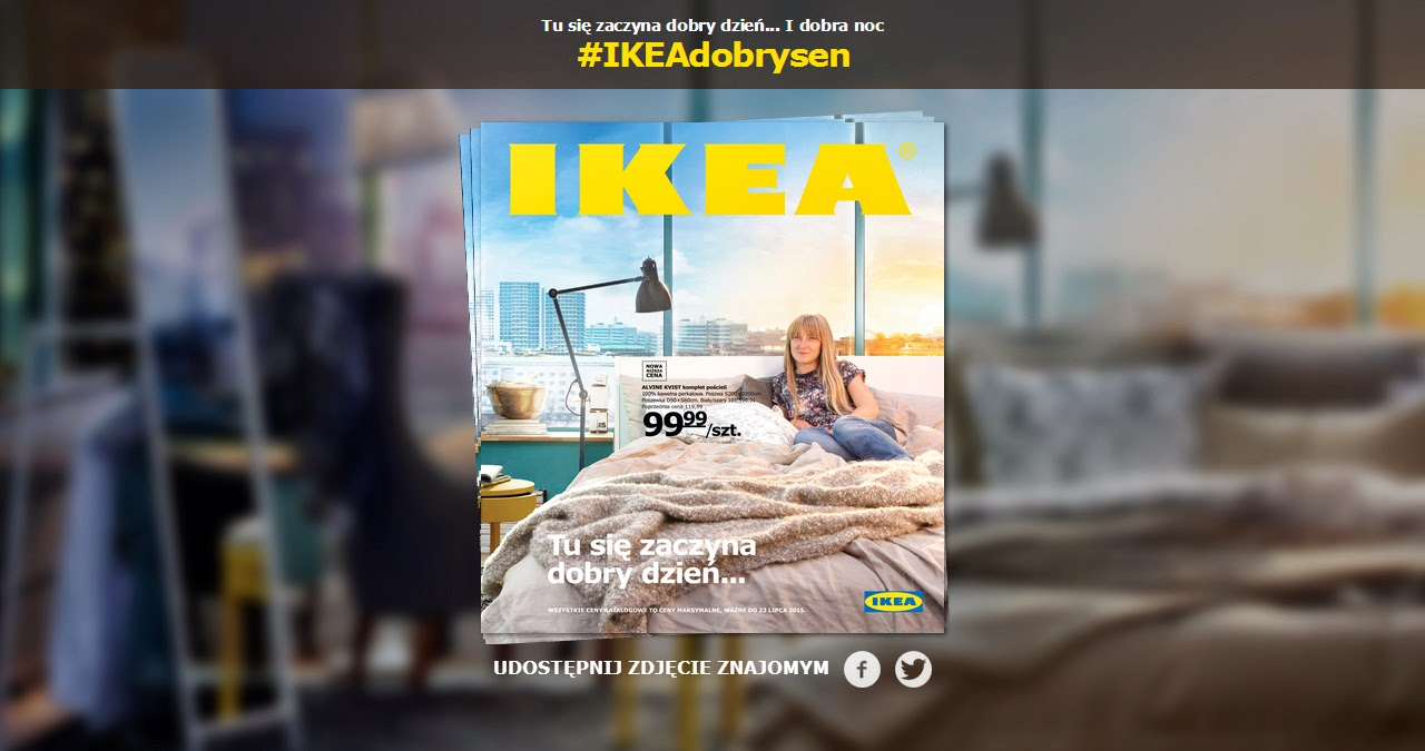 ILOBAHIE siedząca na łóżku IKEA 2015